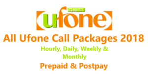 Ufone call packages 2019