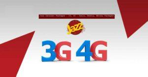 Jazz 3G & 4G Internet Packages - Hourly, Daily, Weekly, Monthly Packages