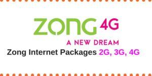 zong 2G,3G,4G Internet packages,zong prepaid postpaid, the planet today