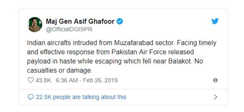 DG ISPR official claim, inda pak war situation quotes, Maj gen asif ghafoor tweets