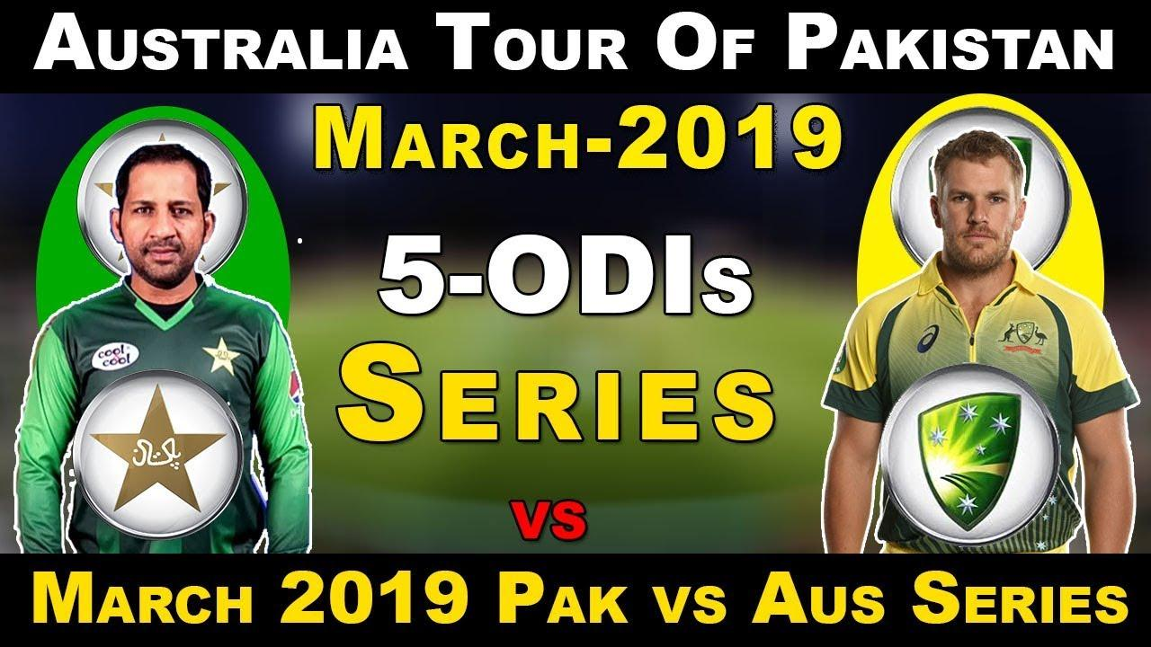 pak vs australia odi series 2019 schedule and results