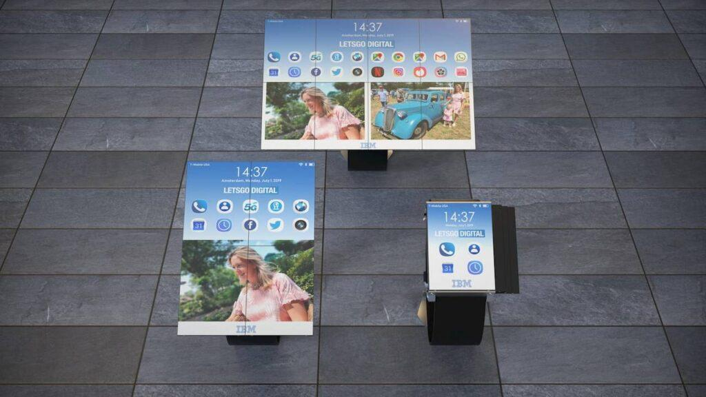 IBM foldable smartwatch