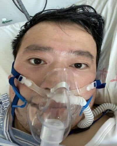 Dr Li in hospital bed