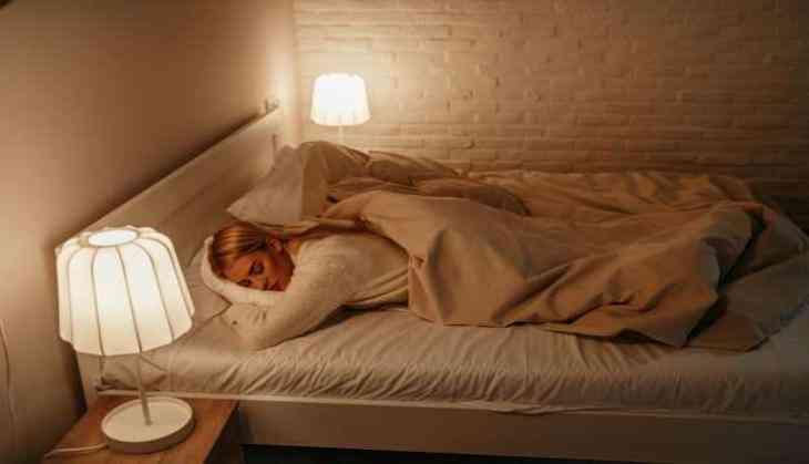 sleeping with lights on