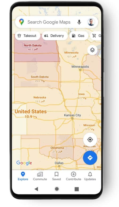 google maps covid 19 travel safe notification