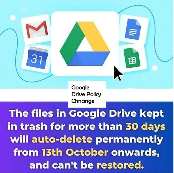 google drive policy change