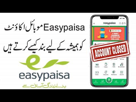 how to delete easy paisa account