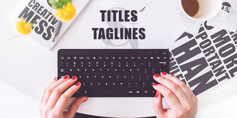 website-titles-taglines
